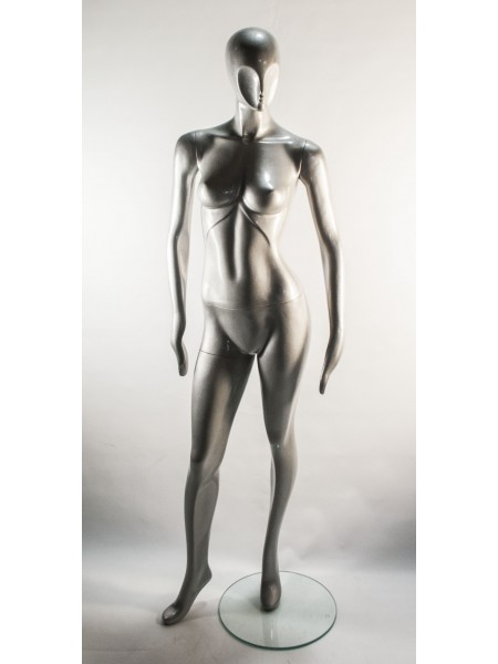 Манекен женский с абстрактым лицом J-10 silver