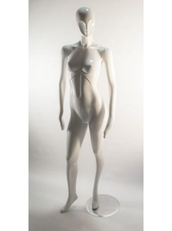 Манекен женский белый глянцевый J10 white