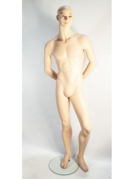 Манекен мужской реалистичный с руками за спиной K-8