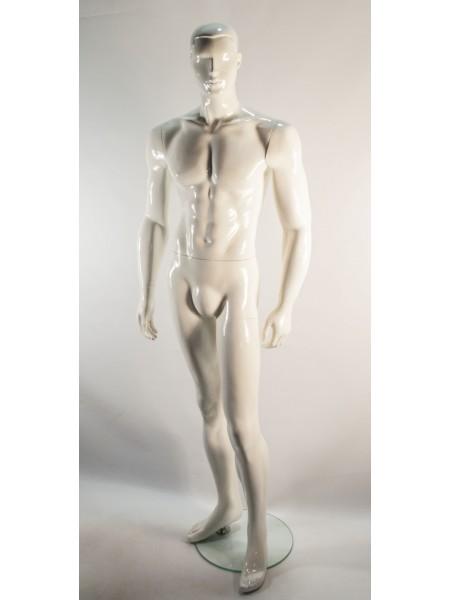 Манекен мужской глянцевый белый K 36-4 white