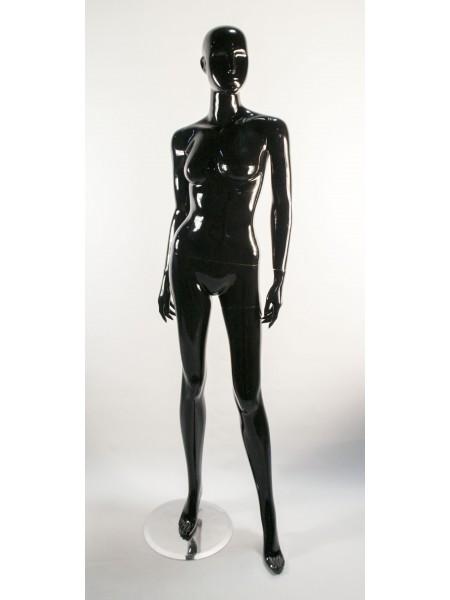 Манекен женский черный глянцевый PU-19 black