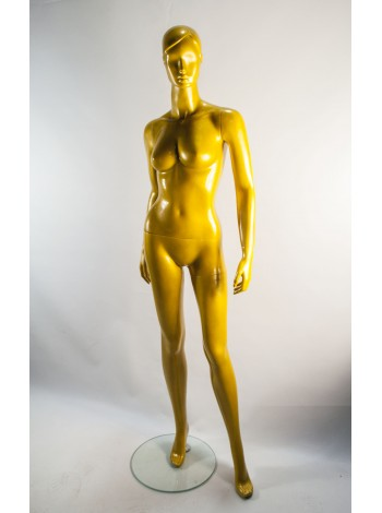 Манекен женский глянцевый золотистый  Q-25-44 gold
