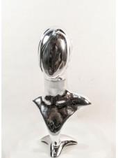 Манекен бюст с головой Аватар-2 хромированный (платина)