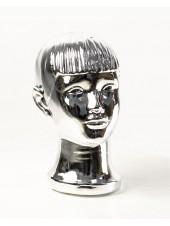 Манекен детской головы зеркальный (платина)