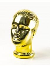 Манекен женской головы металлизированный (золото)