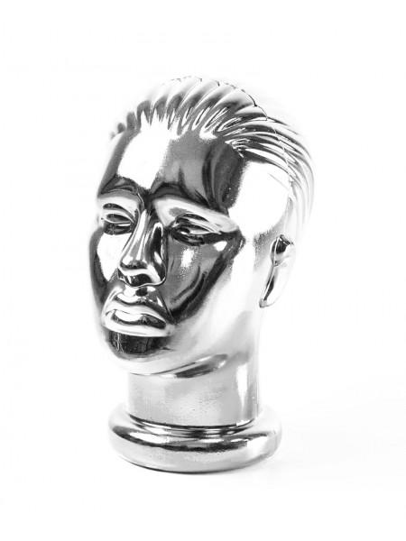 Манекен женской головы хром (платина)