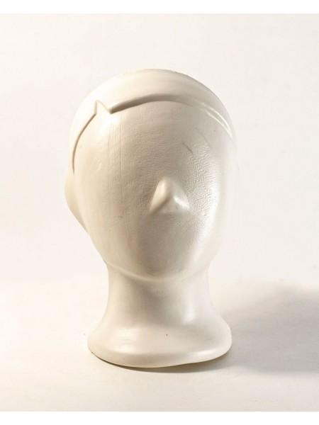 Манекен голова детская  аватар белая матовая