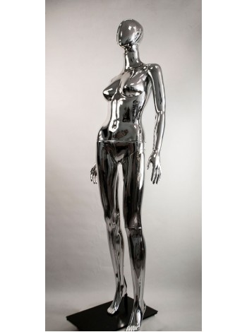 Манекен женский металлизированный Сиваян Аватар-2 (платина)