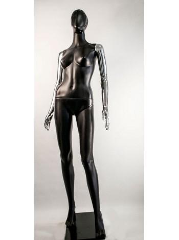 Манекен женский Сиваян черный с металлизированными руками  Аватар-2 (платина)