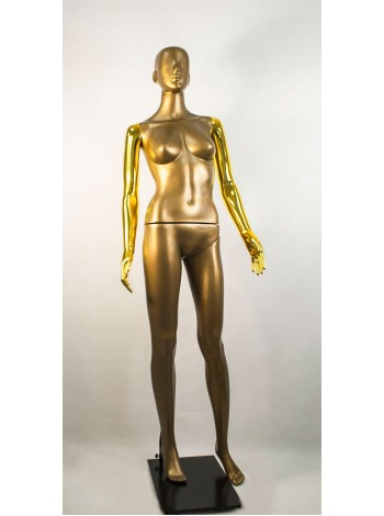 Манекен женский Сиваян бронзовый с глянцеыми руками  Аватар (золото)