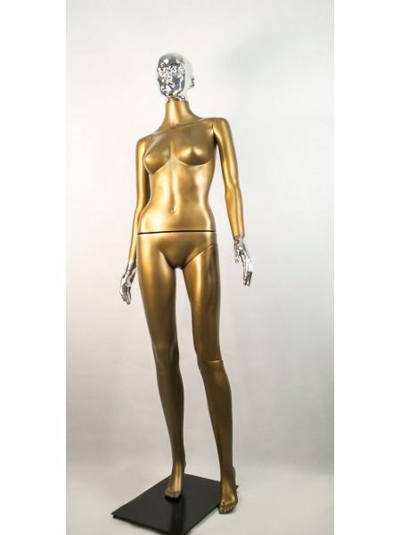 Манекен женский Сиваян бронзовый с металлизированными кистями и головой ВГ (платина)