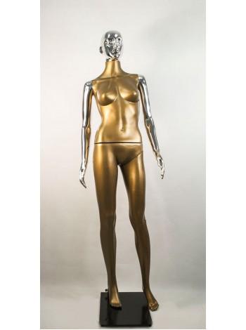 Манекен женский Сиваян бронзовый с хром руками и головой ВГ (платина)