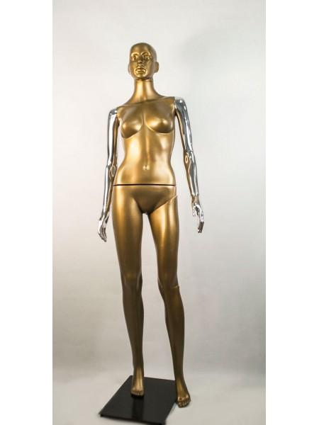 Манекен женский Сиваян бронзовый с металлизированными руками  ВГ (платина)