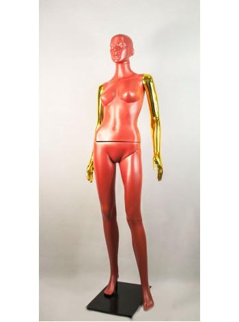 Манекен женский Сиваян терракотовый с металлизированными руками  ВГ (золото)