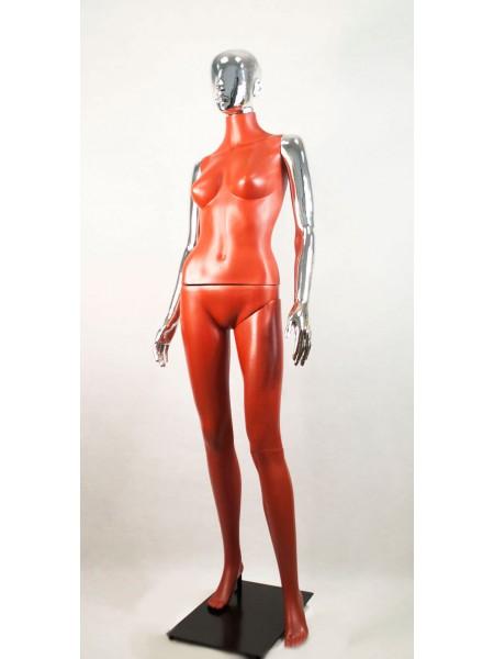 Манекен женский Сиваян терракотовый с глянцевыми руками и головой Аватар (платина)