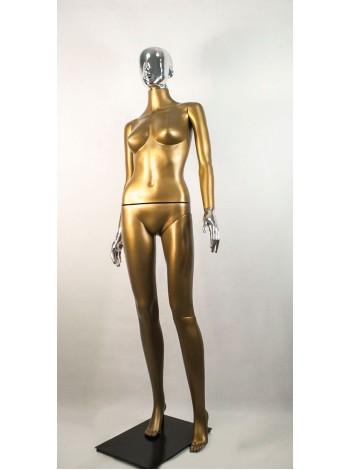 Манекен женский Сиваян бронзовый с металлизированными кистями и головой Аватар (платина)