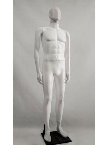 Манекен мужской Сенсей белый матовый аватар на подставке