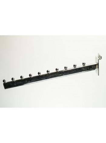 Торговая флейта для одежды массивная 10 шариков (С-71)