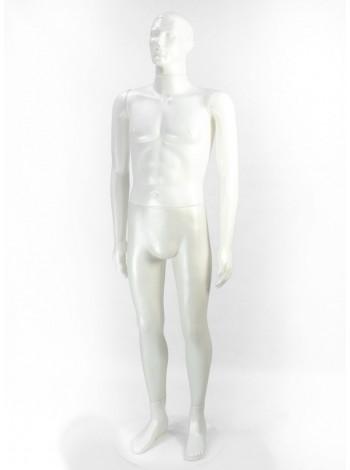 Манекен мужской Сенсей белый перламутр без подставки