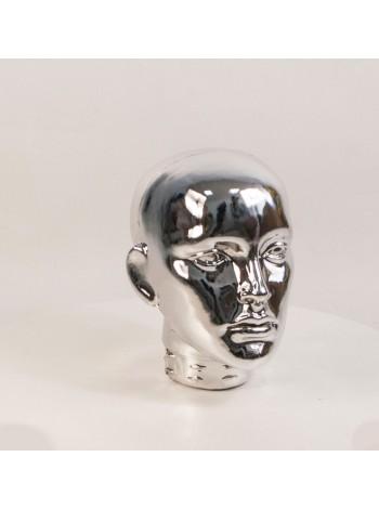 Голова женская ВГ зеркальная (платина)