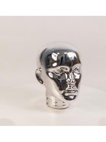 Голова женская ВГ металлизированная (платина)