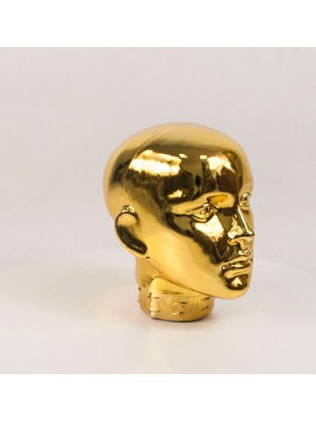 Голова женская ВГ металлизированная (золото)