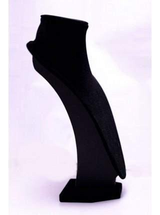 Бюст маленький для украшений черный бархатный