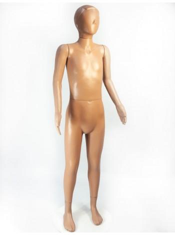 Манекен  пластиковый телесный подростковый в полный рост с головой аватар