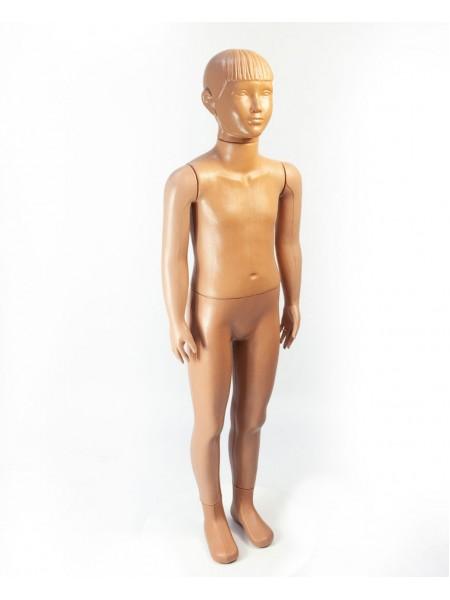 """Манекен детский в полный рост пластиковый """"Школяр"""" мальчик телесный без подставки"""