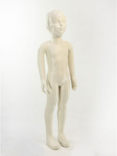 Манекен детский белый матовый с лицом девочки 100 см без подставки
