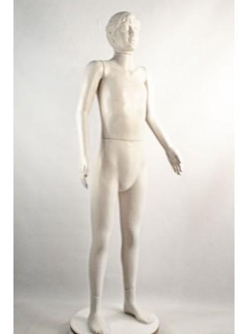Манекен во весь рост  белый пластиковый девочка-подросток без подставки