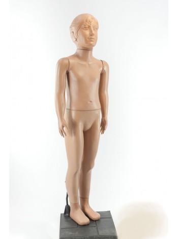 Школяр девочка в полный рост 120см  телесный на подставке