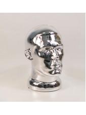 Манекен мужской головы ВГ зеркальный (платина)