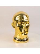 Манекен мужской головы ВГ блестящий (золото)