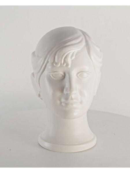 Голова подросток девочка белый
