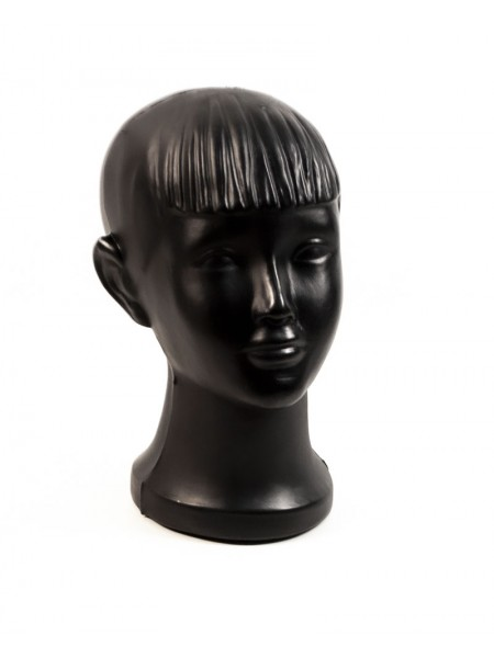 """Голова детская пластиковая """"мальчик"""" черная"""