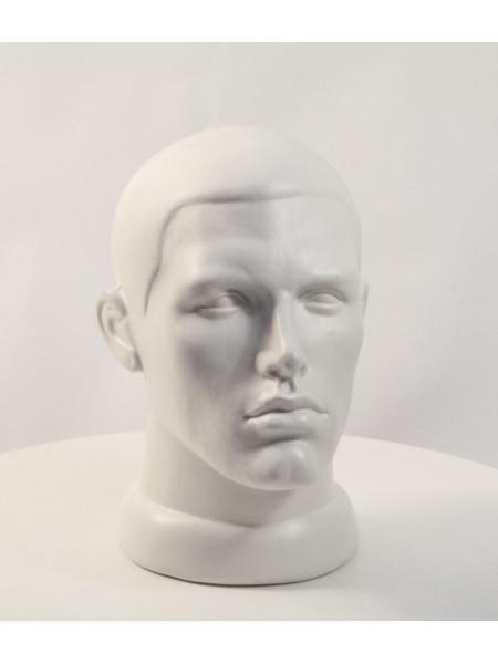 Манекен голова мужская белая матовая