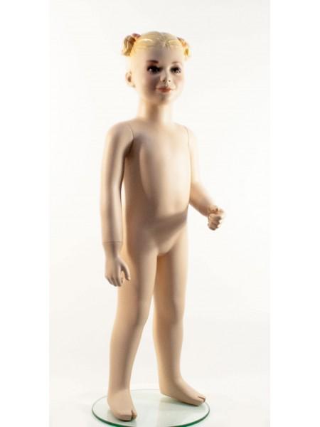 Манекен детский гипсовый реалистичный AL1 телесный девочка