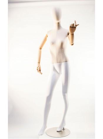 Манекен полноростовой с деревянными шарнирными руками