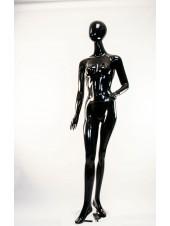 Манекен женский гипсовый глянцевый черный безликий  SF-12