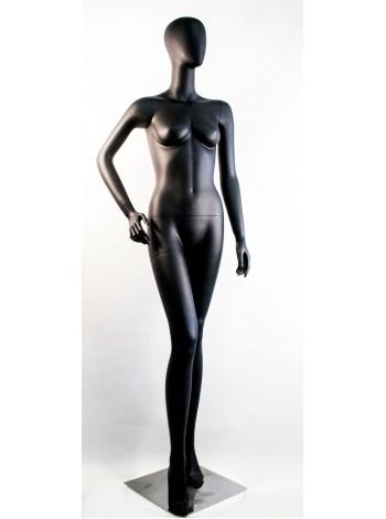 Манекен женский гипсовый матовый черный безликий  SF-12