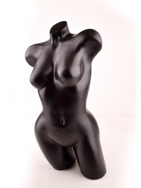 """Манекен торс """"Венера"""" изогнутая (черный)"""