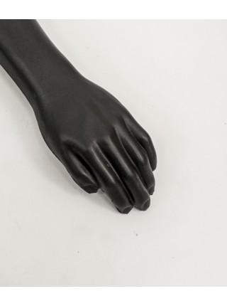 Манекен рука правая мужская черная до плеча