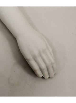 Манекен рука правая мужская белая до плеча
