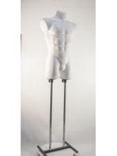 Манекен мужской костюмный пластиковый Давид белый матовый на подставке