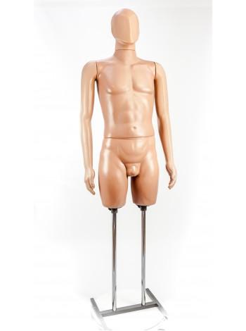 Манекен мужской в полный рост Сенсей аватар  на Н-подставке.