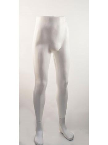 Манекен ноги мужские Юра белые матовые
