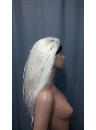 Парик для манекена (Блонд гофрированный на повязке)