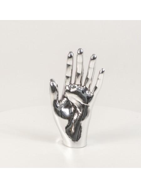 Кисть женская левая металлизированная (платина)