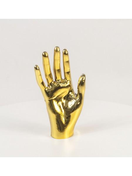 Кисть женская правая металлизированная (золото)